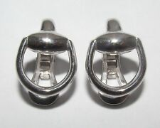 Gucci 18ct White Gold Horsebit Earrings