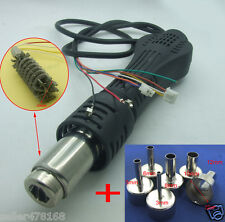 HOT AIR GUN HANDLE + 6PCS Nozzle for ATTEN AT858D+ AT8586 AT858A Soldering Stat