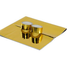 1 Pieces REFLECTIVE GOLD HEAT SHIELD THERMAL RACING ENGINE+2 pieces Cool-Tape