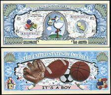 It's a Boy! Million Dollar Baby Collectible Novelty Note
