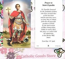 St Expedite with Prayer to St Expedite  - Paperstock Holy Card