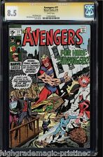 AVENGERS #77 CGC 8.5 WHITE PAGES SS STAN LEE SIGNED CGC#1206549004