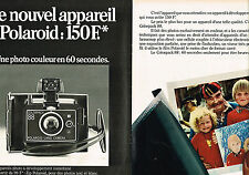 PUBLICITE ADVERTISING 104  1974   POLAROID  appareil photo intantané  ( 2pages)