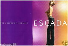Publicité Advertising 2000 (2 pages) Haute couture Escada