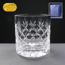 Personalised Whiskey Cut Glass Birthday Gift 18th 21st 30th 40th 50th 60th 70th