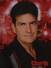 CHARLIE SHEEN - A4 Poster (ca. 21 x 28 cm) - Two and a half Men Clippings NEU