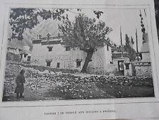 Afghanistan Taghar Le temple aux moulins à prières Image Print 1908