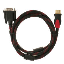 1080P HDMI Male to VGA Adapter Cable for Home Theater HDTV 15 Pin 1.5m