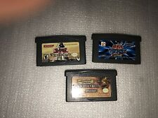 3 GBA GAME LOT- Yu-Gi-Oh! The Sacred Cards w/JAPAN+ D&D Eye of the Beholder RPG