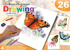 COLORING POSTER Set 4 Designs 26 pc Kit BUTTERFLIES