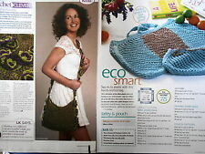 PETAL BAG & ECO SMART  2 BAGS knitting patterns