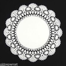 """75 - 12"""" White CAMBRIDGE PAPER LACE DOILIES for Parties Weddings Invitations"""