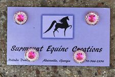 Horse Show Number Magnets -Hot Pink Rhinestone - Saddleseat, Hunt Seat, Western
