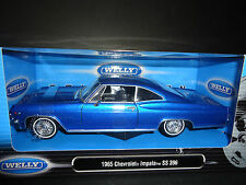 Welly Chevrolet Impala SS396 1965 Low Rider Blue 1/24