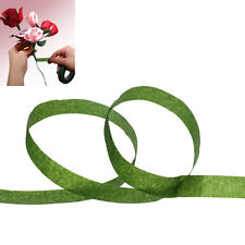 1 roll Paper Florist Floral Stem Wrap Artificial Flower Tape Dark Green 12mm