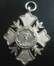 Vintage Silver Football Fob Medal h/m 1912 William James Dingley -  not engraved