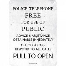 Doctor who police téléphone gratuit pour... petit métal signe 210mm x 150mm (hb)