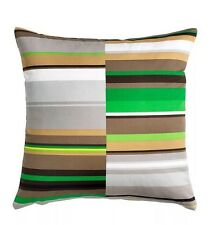 3 Pc Ikea - Stockholm Pillow Cushion Cover -- Stripe: Gray, Brown, Green 20 x 20