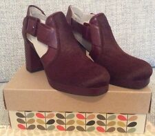 Orla Kiely Clarks Dilly Ox Blood Shoes Size 3, EUR 35.5