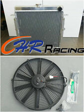 Aluminum radiator +FAN for Toyota Landcruiser 75 Series 2H Diesel Radiator HJ75