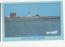 Goat Island Lighthouse Cape Porpoise Maine Postcard USA 403a ^