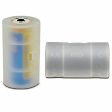 4pcs New AA to C Size Battery Converter Adaptor Adapter Holder Case Box White CE