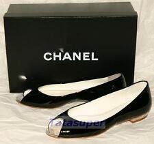 Chanel Flats Shoes - Size 36 Patent Black 100% Authentic BNIB