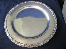 "ANTQUE MEXICAN MACIEL STERLING 12"" CHARGER OR PLATE WITH DESIGN EDGE"
