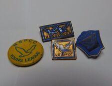 4 x Vintage N.S.P.C.C. league of pity badges Enamel badges
