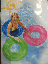 "30"" Inflatable Transparent Swim Ring / Tube 3 Colors to Choose New US Seller"