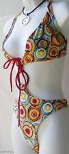Caluna pink orange white gray red black 2 piece swimsuit new sz S small