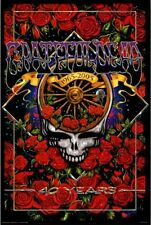 "Grateful Dead Steal Your Face 40th Anniversary Poster 24""x36"" Rock n Roll Biker"