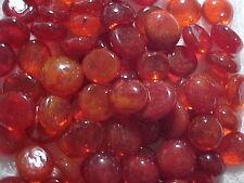 10 Lb 1000 Orange Flat Glass Marbles Gems, Vase Fillers, Mosaic Tiles $21.88