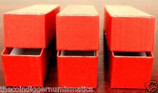 3 Coin Storage Box Red 9x2x2 Holder SINGLE ROW for 2x2 Flip - Coin Supplies
