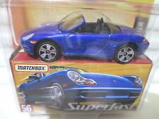 Matchbox 2005 Superfast Blue #56 PORSCHE BOXTER Car New Mint Boxed