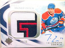SICK /25 JORDAN EBERLE ULTIMATE DEBUT THREADS jersey PATCH AUTO UD 2010 10 11