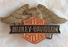 New Vintage Harley Davidson Baron Belt Buckle 1990 Solid Brass
