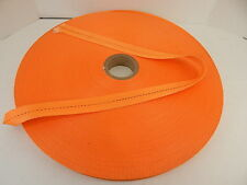 "2400' POLYESTER WOVEN STRAPPING 1-1/2"" WIDE MW STRAPPING ID 2060 ORANGE"