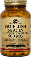 Solgar No-Flush Niacin 500mg 100 Vegetable Capsules Vitamin B3