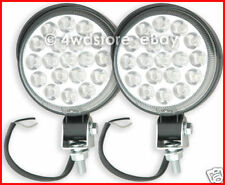 PAIR of 12v 95mm ROUND LED REVERSE BACK-UP CAMPING WORK LIGHT LAMPS