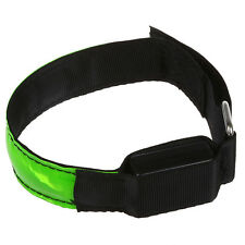 LED Safety Reflective Strap Shine Armband for Running light green AD