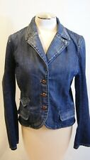 PAIGE CRESCENT HEIGHT DENIM JEAN JACKET SIZE LARGE (j 100)