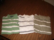 3 American Eagle & Aeropostale Men's Medium Short Sleeve Rugby Polo Shirts