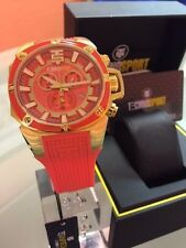 TechnoSport TS-100-40 Unisex Coral w/Gold Accents 44MM Swiss Chronograph