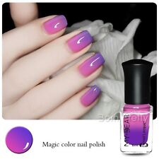 6ml Thermal Nail Polish Color Changing Peel Off Purple to Pink Nail Varnish