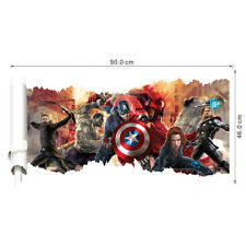 The Avengers Captain America Removable 3D Wall Sticker Wall Decal Home Decor USA