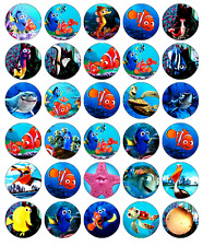30x Finding Nemo Cbeebies Cupcake Toppers Edible Wafer Paper Fairy Cake Toppers