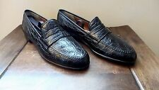 RARE! $2500 Salvatore Ferragamo Genuine Crocodile Alligator Loafers Shoes Polo