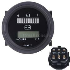 "12v 24v 36-72v  2"" Car Hour Meter Gauge & Battery Indicator Charge Status Meter"