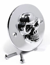 3D Skull Ignition Point Cover Chrome for Harley Davidson Skull Ignition 2-hole
